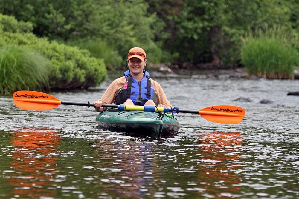 Jenny Makosky, SCRA River Connections Steward ,on the 2015 Paddle Namekagon. Photo by Mark Sampson