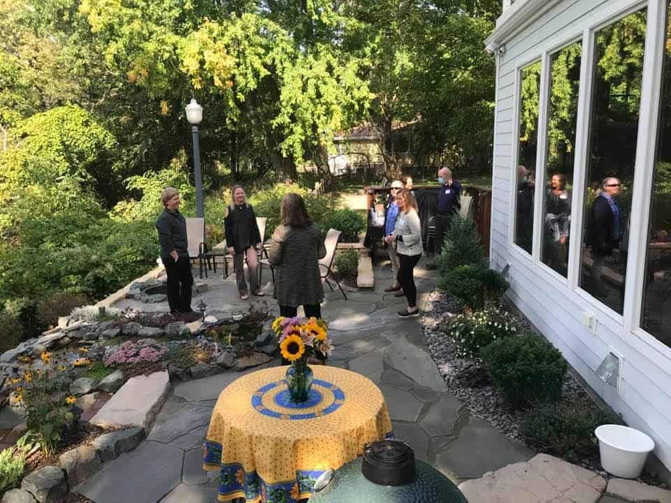 Gathering at the home of Betsy Kremser