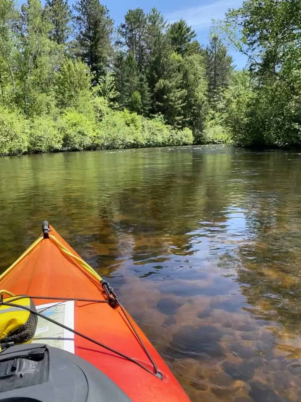 The beautiful waters of the Namekagon (Photo: SCRA Paddle Participant)