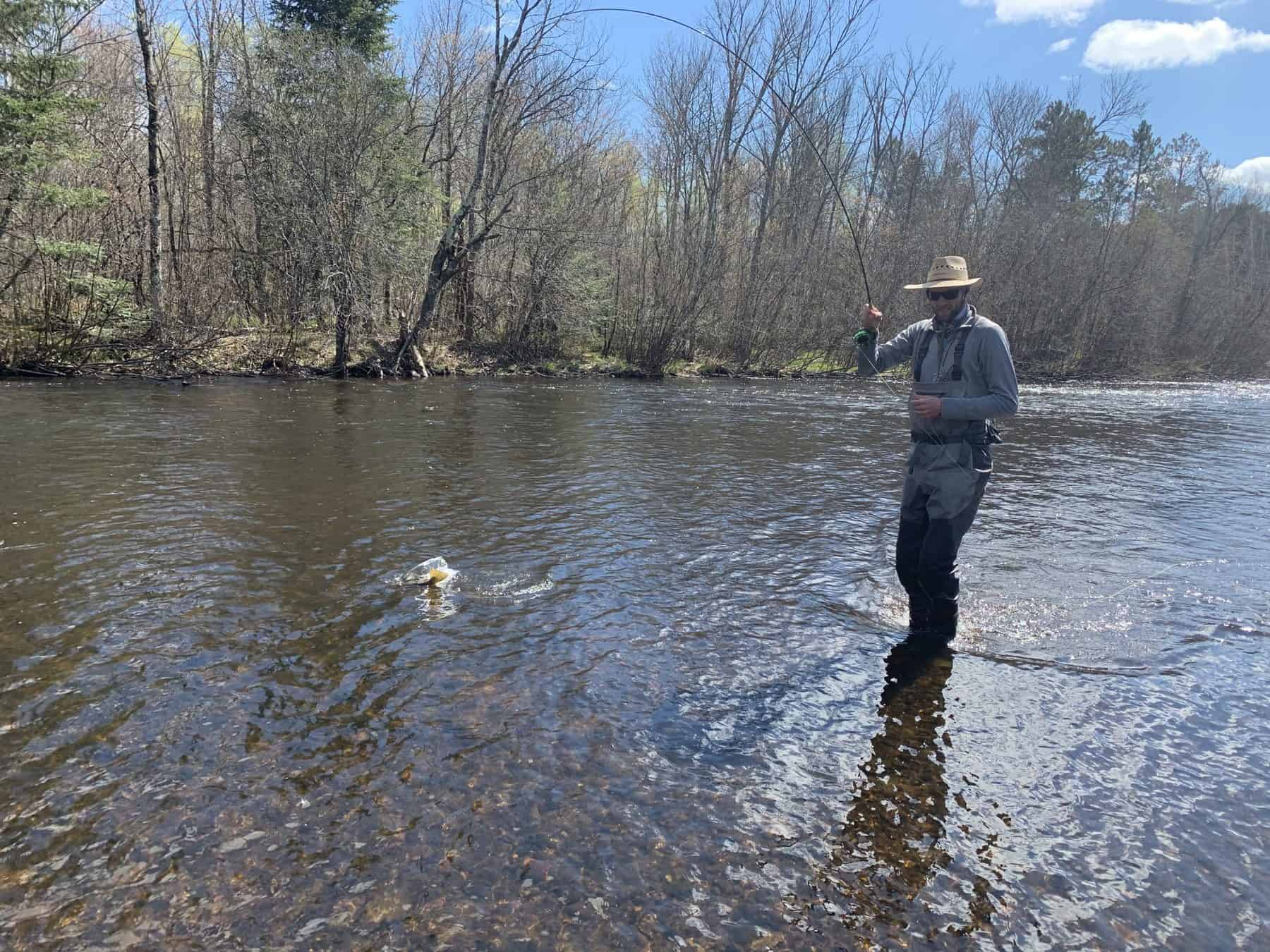 Stu at work on the Namekagon River