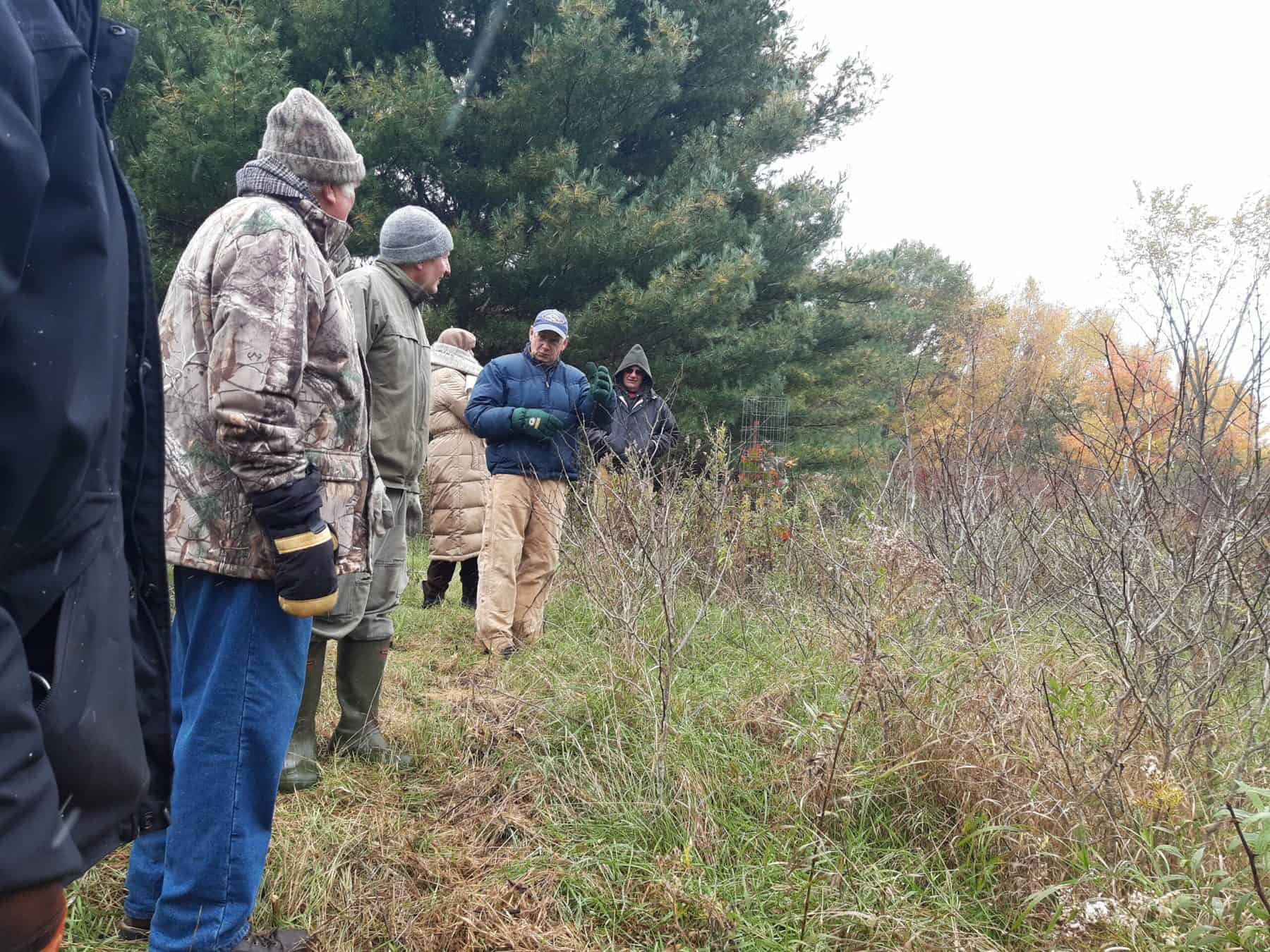Woodland owner tour in 2019. (Photo: SCRA)