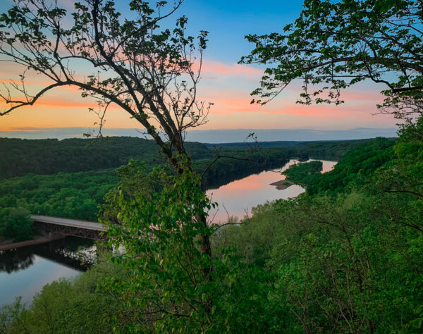 Sunset at Osceola Bluff. (Photo: Kate Wright, Wild Rivers Conservancy)