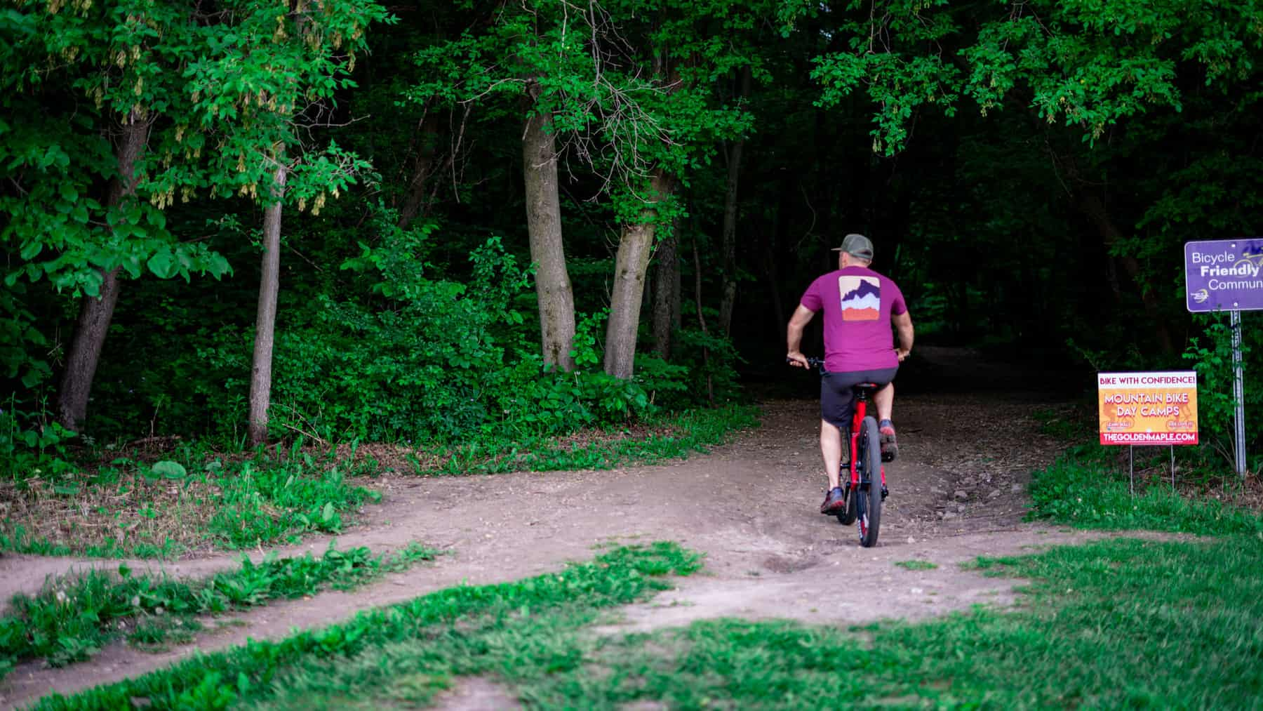 Biking on White Tail Ridge trails near River Falls. (Photo: Kate Wright, Wild Rivers Conservancy)