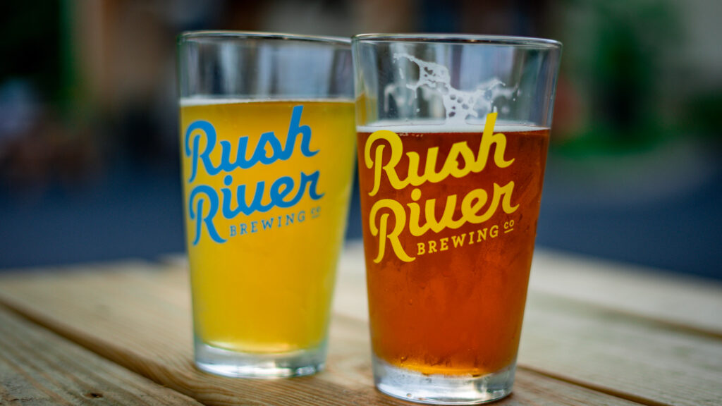 Summer in a glass at Rush River Brewing. (Photo: Kate Wright, Wild Rivers Conservancy)