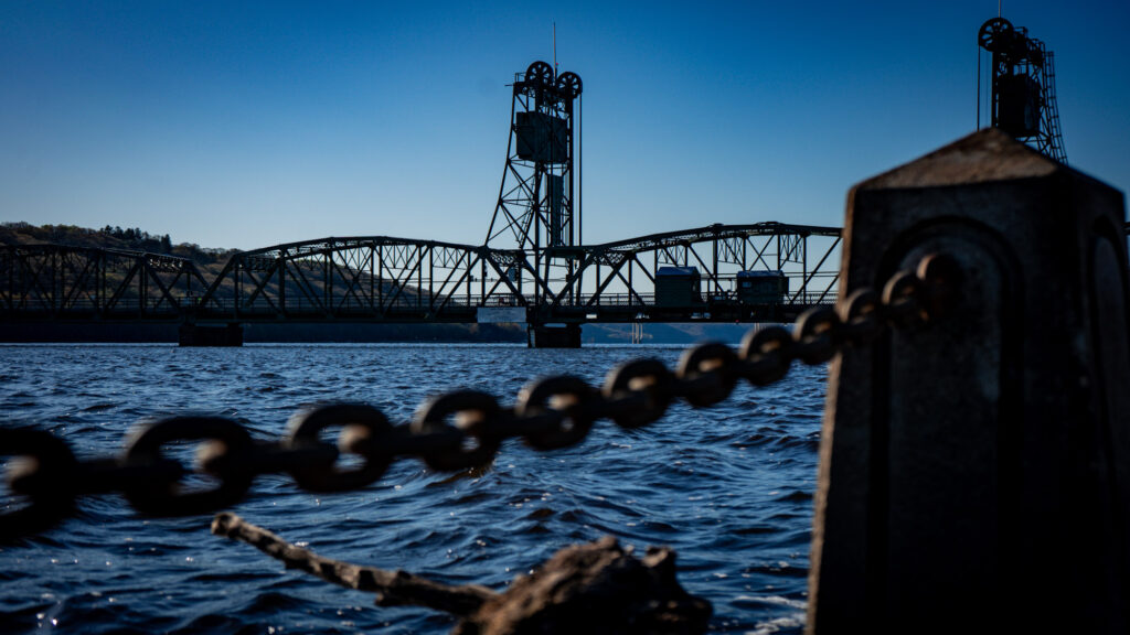 The historic Stillwater Lift Bridge, seen from Lowell Park. (Photo: Kate Wright, Wild Rivers Conservancy)